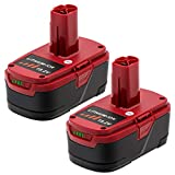 2Packs Upgraded to 5.0Ah Lithium C3 Battery for Craftsman 19.2 Volt Battery DieHard 315.115410 315.11485 130279005 1323903 120235021 11375 11376 315.PP2011 Cordless battery