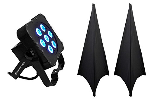 American DJ ADJ Flat Par Tri 7XS Slim Par Can LED RGB Wash Light Tri7XS+2 Scrims by American DJ