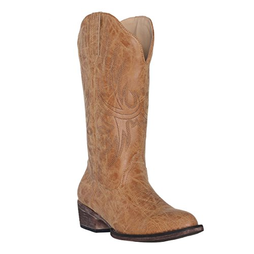 Women's Western Cowgirl Cowboy Boot | Tan Dallas Pointed Toe by Silver Canyon, Size 7