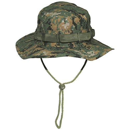 (GI Boonie Jungle Army Bush Hat Hiking 100% Cotton Ripstop Digital Woodland Camo SIZE M)