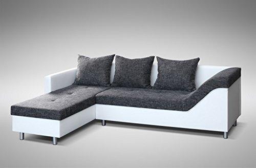 Sofa Couch Ecksofa Eckcouch Sofagarnitur In Weiss Graubraun