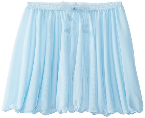 Capezio Big Girls' Children's Collection Circular Pull-On Skirt, Light Blue, Large