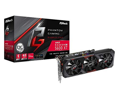 ASRock Phantom Gaming D3 Radeon RX 5600 XT DirectX 12 RX5600XT PGD3 6GO 6GB 192-Bit GDDR6 PCI Express 4.0 x16 HDCP Ready Video Card