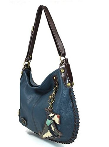 13 in 5 Adjustable x 0 Strap Dog 5 16 Navy Charming Xbody Hobo with Blue Schnauzer x Large Iwx7Z6qW