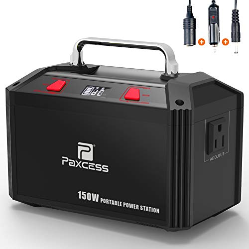 PAXCESS Generator Portable Power Station-[150W Upgraded]-Lithium Battery Pack Supply with 110V AC Outlet, 3 DC 12V Ports, 2 USB Port, Solar Electric Small Generators for Camping Travel Home Emergency by PAXCESS (Image #7)