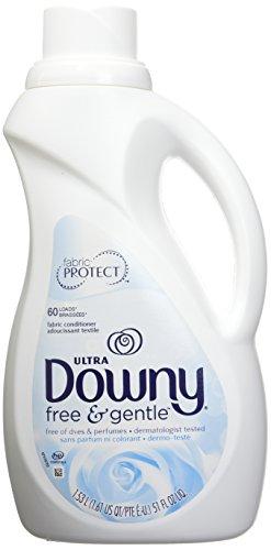 Downy Free & Gentle Liquid Fabric Conditioner (Fabric Softener), 51 FL OZ (Downy Fabric Softener Liquid)