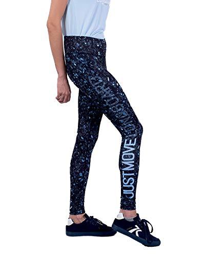 LongBoard Legging femme bleu marine à motif Terrazzo