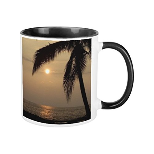 Funny Coffee Mugs for Women Mug Gifts for Chrimstas Unique Hawaiian Sunset Ringer Mug Presents Ceramic Mug Cup 11oz
