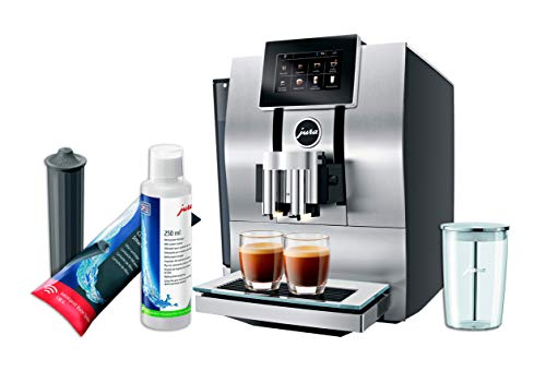 Jura Z8 Automatic Coffee Machine Set witth Smart Water Filter, Milk System Cleaner and Milk Container
