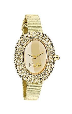 e96eeaafd87 Dolce Gabbana - DW0376 - Montre Femme - Quartz - Analogique - Bracelet Cuir  Doré