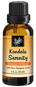 Anxiety Relief Essential Oil Blend - 30 ml - Lavender, Spanish Marjoram, Cedarwood, Mandarin, Clary Sage, German Chamomile. Pure, Therapeutic Grade for Aromatherapy -Anxiety Symptoms and Stress Relief