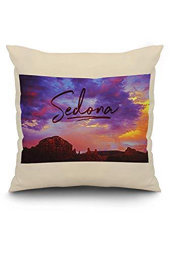 (ZninesOnhOLD Sedona, Arizona - Sunset and Red Rock Mountains)
