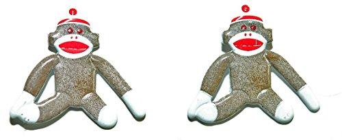 Metal Sock Monkey Stud Earrings (Metal Womens Socks)