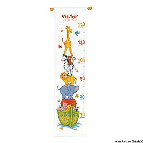 (Vervaco Noah's Ark Height Chart - Cross Stitch)