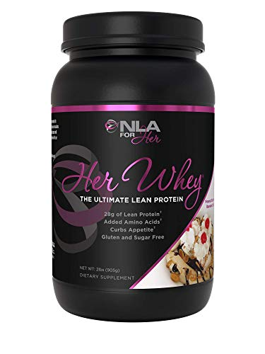 NLA for Her- Her Whey- Lean Whey Isolate Protein for Women-Added Amino Acids for Recovery, Builds Muscle, Curbs Appetite- 5 Flavor Choices - 2 lbs ... (Peanut Butter Banana Split)