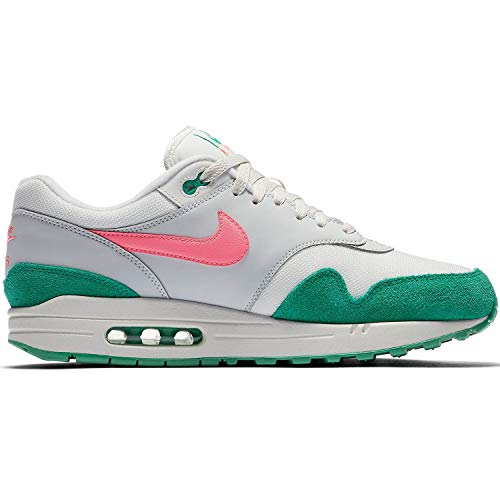 Nike Men's Air Max 1 Gymnastics Shoes, White (Summit White/Sunset Pulse/Kinetic Green 106), 9 UK ()