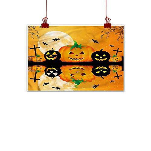 Fabric Cloth Rolled Halloween,Scary Pumpkin 36
