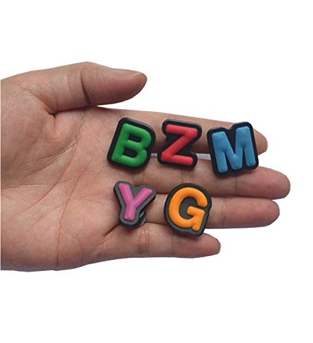 Large Product Image of TWO SET OF LETTER SHOE CHARM FITS CROCS LETTER CLOG CHARMS ALPHABET SHOE CHARMS