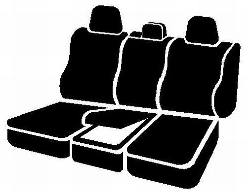 Front Split Seat 40//20//40//Neoprene Center Panel FIA NP97-33 Black with Gray Cover