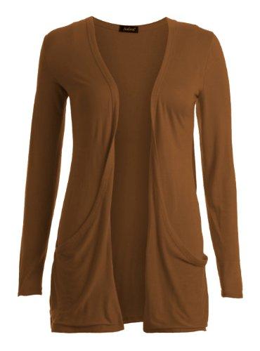 Fast Fashion - Gilet Long Manches Longues style Boyfriend - Femme - 40/42 - Moka