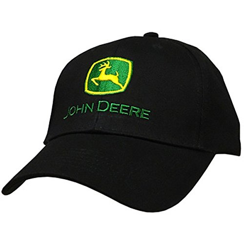 John Deere Men's Trademark Logo Core Baseball Cap, Black, One Size