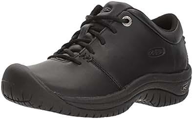 KEEN Utility Women's PTC Oxford Work Shoe,Black,5 M US