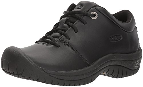 KEEN Utility - Women's PTC Oxford (Soft Toe) Work Shoes, Black, 6