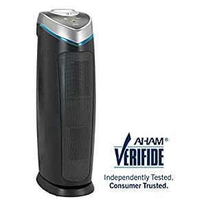 Germ Guardian True HEPA Filter Air Purifier for Home, Office, Bedrooms, Filters Allergies, Pollen, Smoke, Dust, Pet Dander, UV-C Sanitizer Eliminates Germs, Mold, Odors, Quiet 22 inch 3-in-1 AC4825 by Guardian Technologies