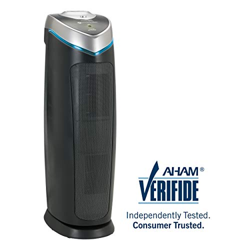 "GermGuardian AC4825 22"" 3-in-1 Full Room Air Purifier, True HEPA Filter, UVC Sanitizer, Home Air Cleaner Traps Allergens, Smoke, Odors, Mold, Dust, Germs, Pet Dander, 3 Yr Warranty Germ Guardian -"