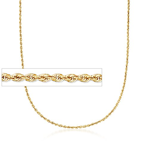 Ross-Simons 3.2mm 14kt Yellow Gold Rope Chain Necklace (Necklace Rope 14kt Gold)
