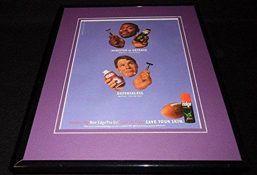 Reggie White Brett Favre 1997 Edge Framed 11x14 ORIGINAL Vintage Advertisement