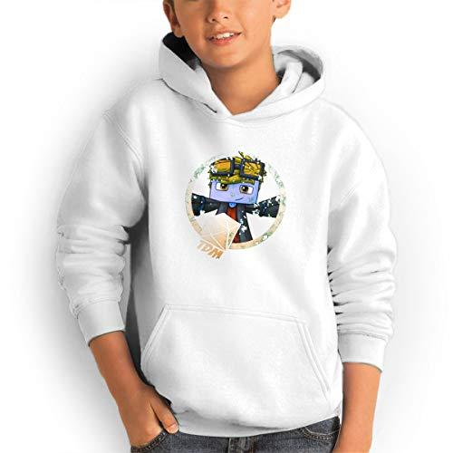 (DanTDM Mincraft Teen Hoodies Fashion Sweatshirts Pullover White)