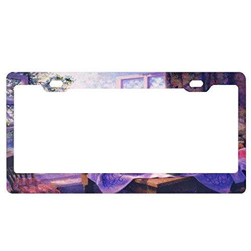 Scene from A Window License Plate Frame Aluminum Metal Cop Car Tag Frame, Auto Car License Plate Cover Holder for US Standard (Best Scenes From Cops)
