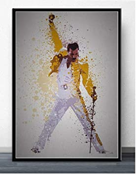 nr Freddie Mercury Queen Rock Band Legendario Cartel cómico de ...