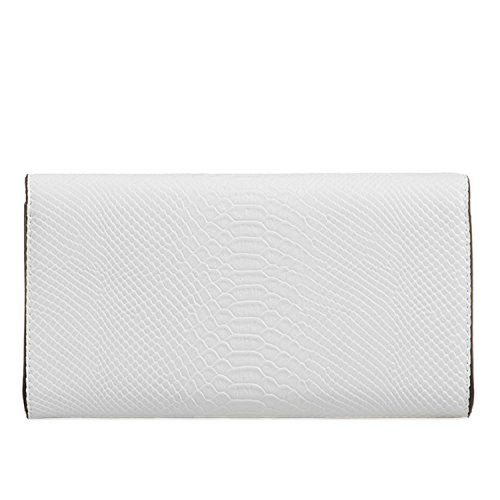 Prom Bags White Clutch Faux Croc Chain Party Long Women Leather Medium London Xardi Evening Ladies ZzHB4qw