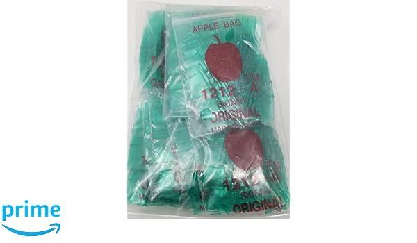 1212-A Skinny 1//2 x 1//2 2.5 mil Mini Ziplock Reclosable Baggies Green, 1000 Bags
