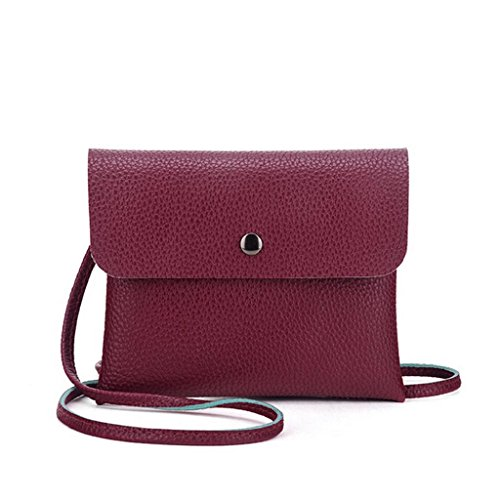 Ammazona Fashion Women Crossbody Bag pillow bag Handbag (Wine)
