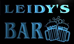 w019066-b LEIDY Name Home Bar Pub Beer Mugs Cheers Neon Light Sign