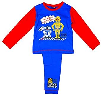 Niño Pequeño STAR WARS R2D2 C3PO Pijama Ajustado Tallas desde ...