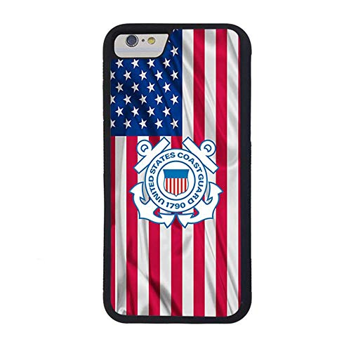 FIDIKO Phone Case Compatible iPhone 7 8,United States Coast Guard Phone Case Phone Protective Cover for Men