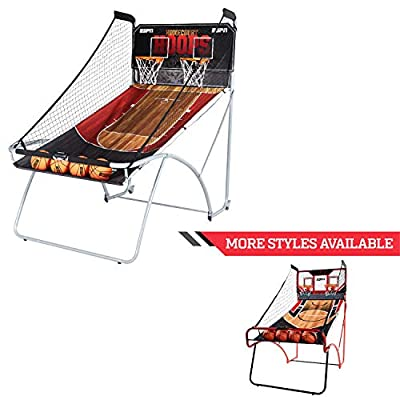ESPN EZ Fold Indoor Basketball Game for 2 Players with LED Scoring and Arcade Sounds (6-Piece Set) : Sports & Outdoors