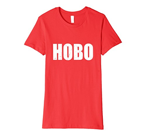 Womens Hobo Halloween Costume Party Cute & Funny T shirt Large Red - Hobo Costume For Women