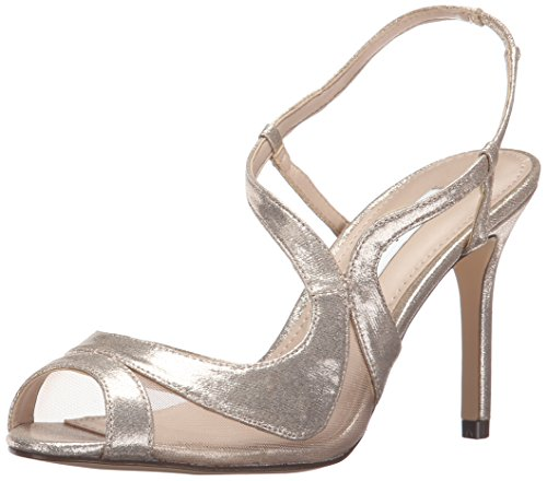 Nina Women's Renee-Ym Dress Pump, Taupe Reflect Suedette/Champ Metallic, 7 M US