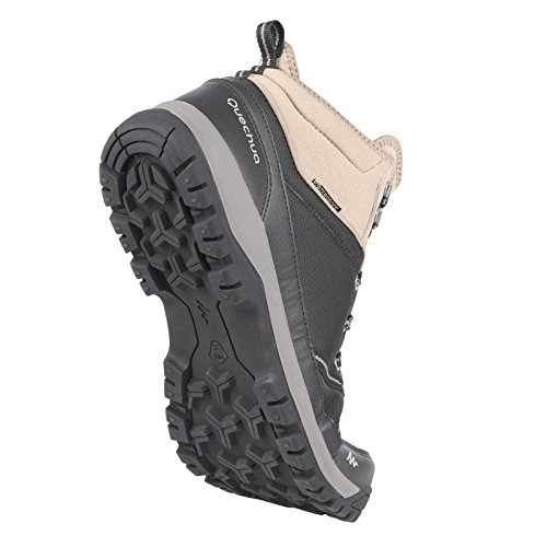 d905370b643 Quechua NH300 Mid Waterproof Men s Nature Hiking Boots - Black  Buy Online  at Low Prices in India - Amazon.in