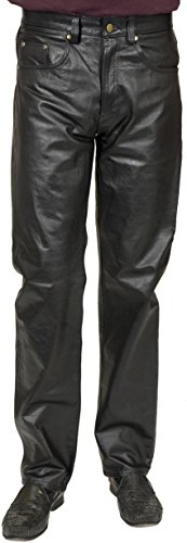 Charades 4 Pocket Pleather Jean 36 Waist -