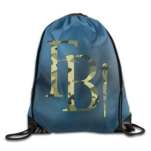 Price comparison product image Fashion Cool Camouflage FBI Logo Bag Gym Sack Backpack White One Size