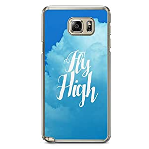 Inspirational Samsung Note 5 Transparent Edge Case - Fly High
