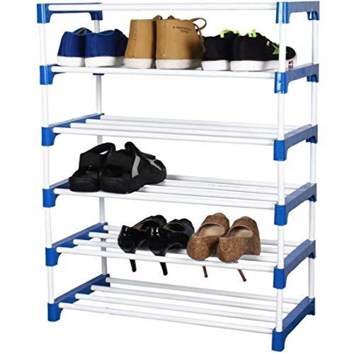 Novatic Heavy Duty Metal, Plastic Foldable Shoe Stand  6 Shelves