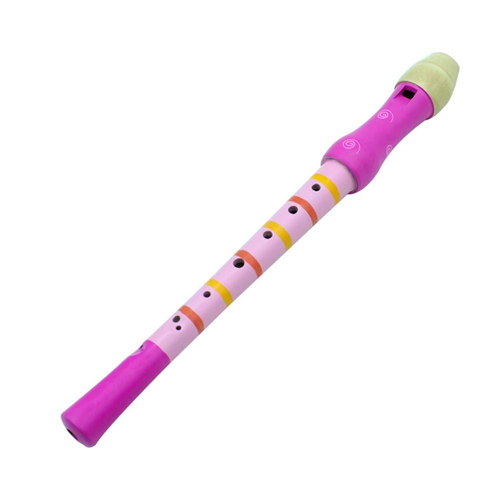 clarinette Cadeau musical Instruments Klaxon trompette jouet /éducatif pour enfants color/é 8/Holes Fl/ûte en bois rouge