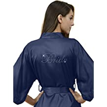 SIORO Personalized Kimono Robe Satin Bridesmaid/Flower Girl Wedding Party Gowns